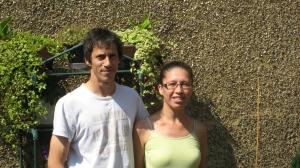 Cecilia and David - urban gardeners.